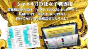 競艇・ボートレス予想サイト赤シャネル3Dセット-女子戦専用-競艇富豪必勝法