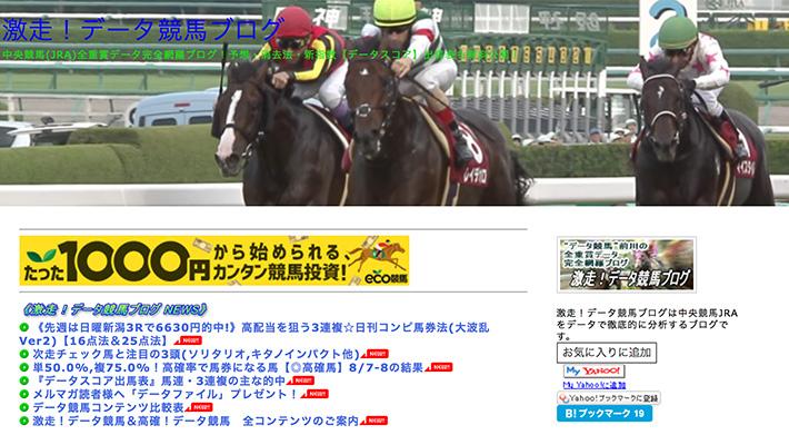 競馬予想サイト激走!データ競馬ブログ