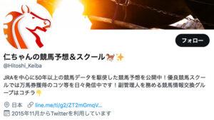 競馬予想サイト仁ちゃんの競馬予想&スクール Twitter