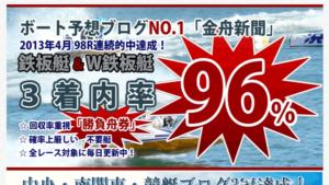 競艇・ボートレス予想サイト金舟新聞