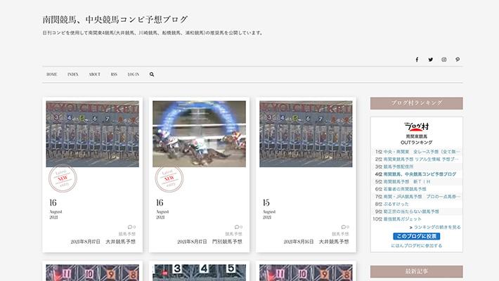 競馬予想サイト南関競馬、中央競馬コンピ予想ブログ