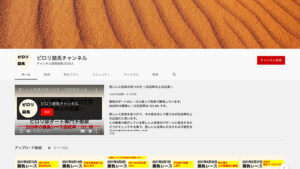 競馬予想サイトピロリ競馬チャンネル YouTube