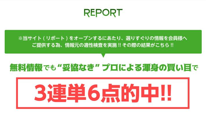 競馬予想サイト リポート( REPORT )
